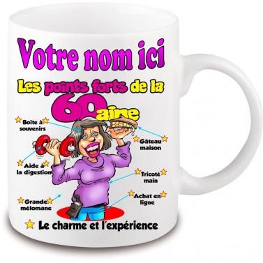 Mug Anniversaire 60 ans femme