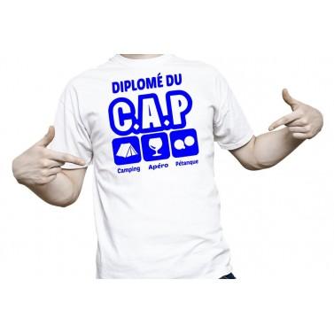 "Tee Shirt homme ""Diplômé du CAP"""