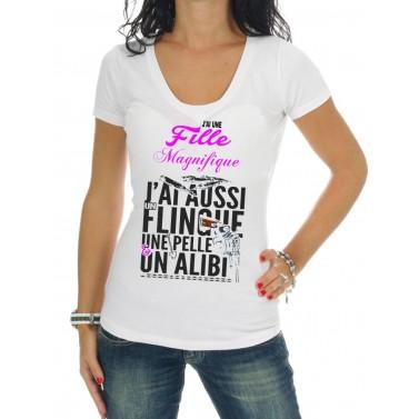 """Tee Shirt femme """"J'ai une fille magnifique"""""""