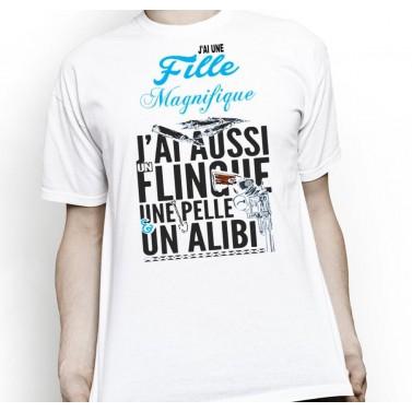 """Tee Shirt homme """"J'ai une fille magnifique"""""""