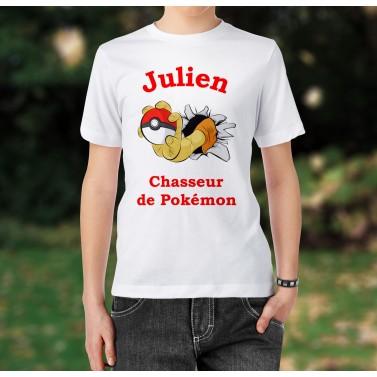 Tee-Shirt enfant chasseur de pokémon