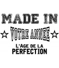"Tee Shirt ""L'âge de la perfection"""
