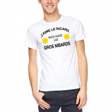"""Tee Shirt homme """"J'aime le ricard"""""""