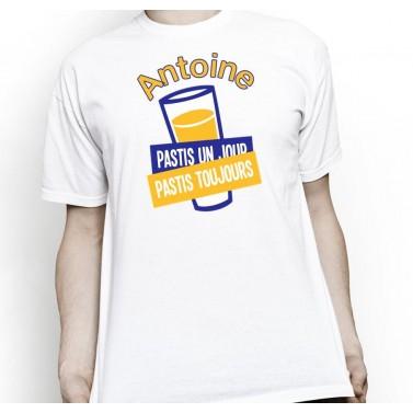 """Tee Shirt pour homme """"Pastis un jour, pastis toujours"""""""