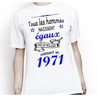 """Tee Shirt homme """"Tous les hommes naissent égaux"""""""