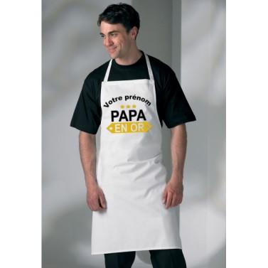 Tablier Papa en Or