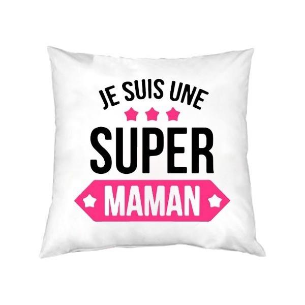 Coussin carré je suis une Super Maman