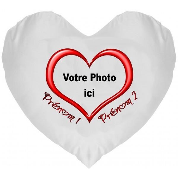 Coussin Coeur Photo à Personnaliser