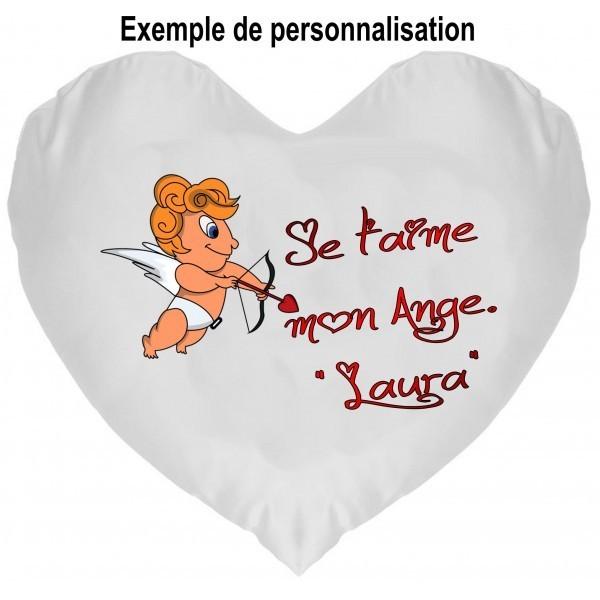 Coussin Coeur Cupidon à personnaliser
