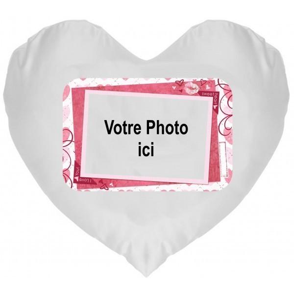 Coussin Coeur Photo Sweat Heart à Personnaliser