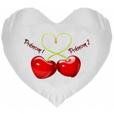 Coussin Coeur Cherry à Personnaliser