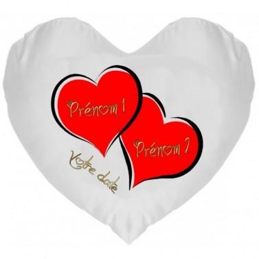 Coussin Coeur Double à Personnaliser