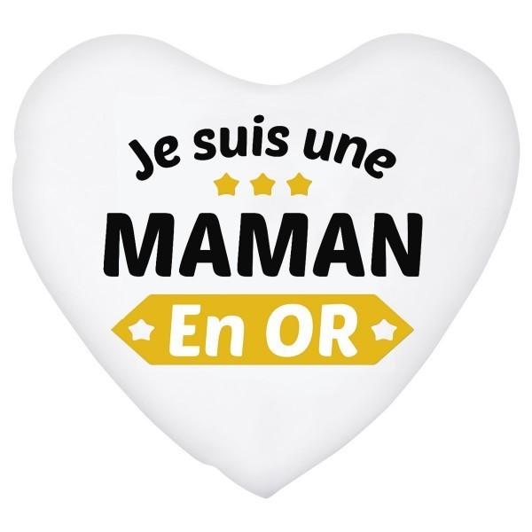 Coussin coeur je suis une Maman en or