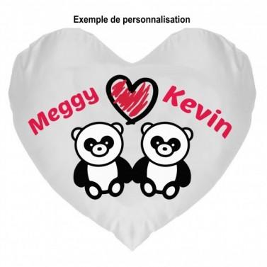 Coussin Panda Amoureux