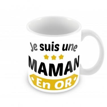Mug Je suis une Maman en or
