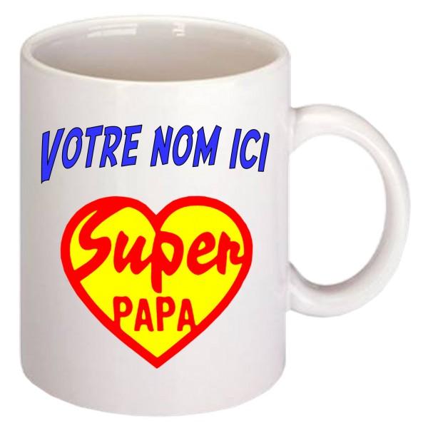 Mug Super Papa Coeur