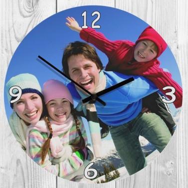Horloge verre photo classique