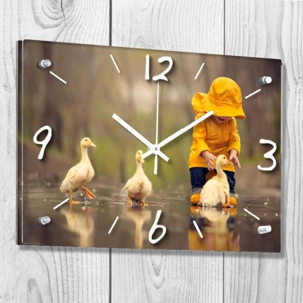 Horloge paysage personnalisée