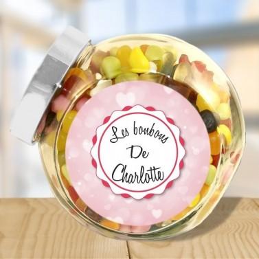 Bonbonnière en verre personnalisée