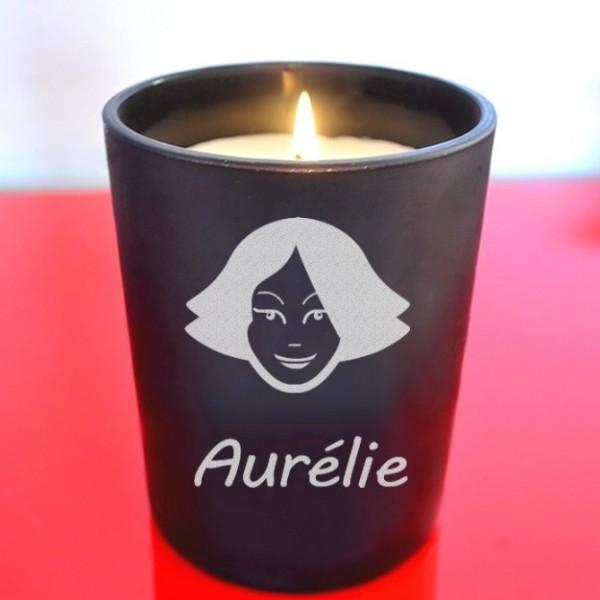 Bougie logo femme personnalisée