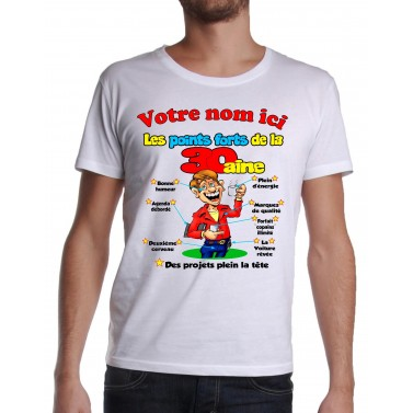 Tee Shirt Homme 30 ans