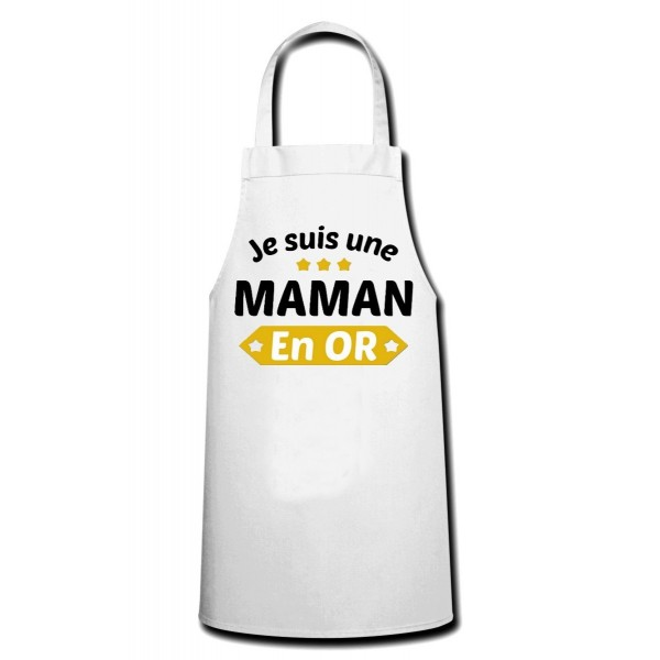 Tablier Maman en or