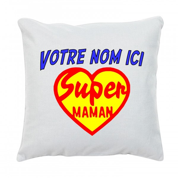 Coussin Super Maman Coeur
