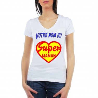 Tee Shirt Super Maman Coeur