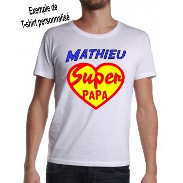 Tee Shirt Super Papa Coeur