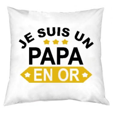 Coussin Papa en OR