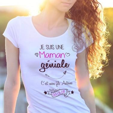 """Tee shirt """"Je suis une maman génial"""""""