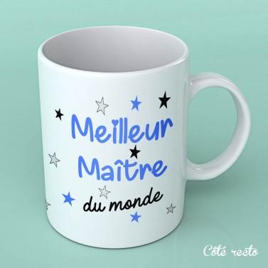 """Tasse blanche """"Meilleur maître du monde"""""""