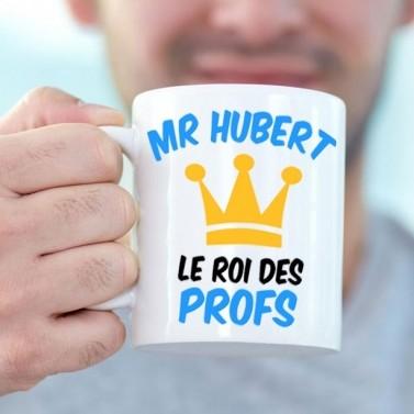 """Tasse blanche """"Le roi des profs"""""""
