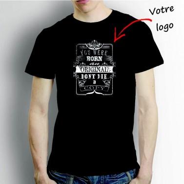 T-shirt homme noir à personnaliser