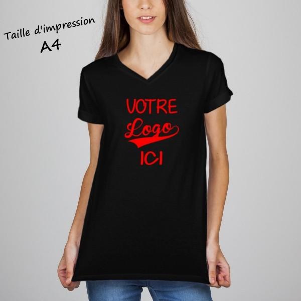 T-shirt femme noir à personnaliser