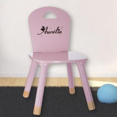Chaise enfant rose à personnaliser