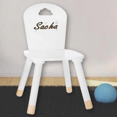 Chaise enfant blanche à personnaliser