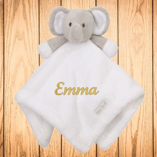 Doudou personnalisé Elephant blanc