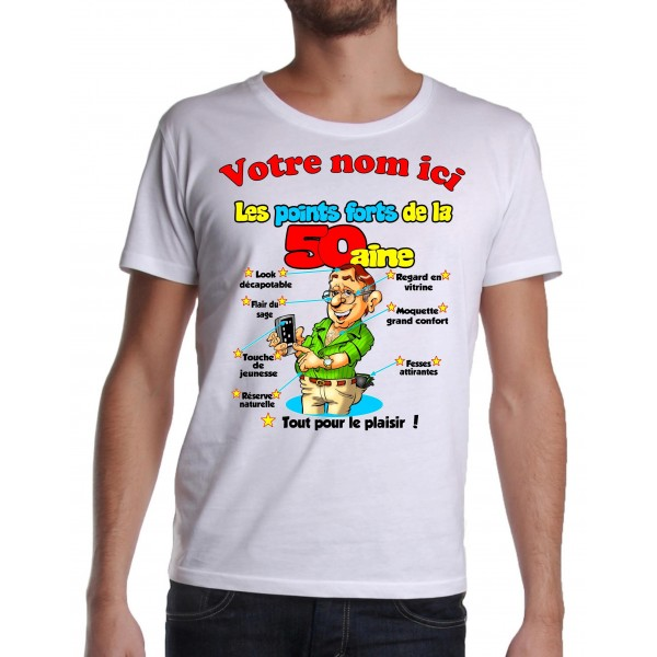 Tee Shirt Homme 50 ans