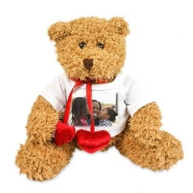 Peluche ours coeur personnalisée