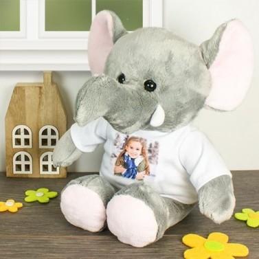 Peluche éléphant personnalisée