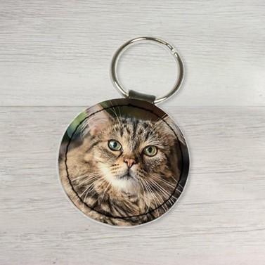 Porte clés cuir rond personnalisé