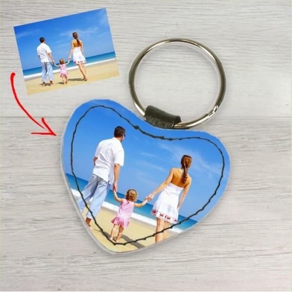 Porte clé cuir coeur personnalisé
