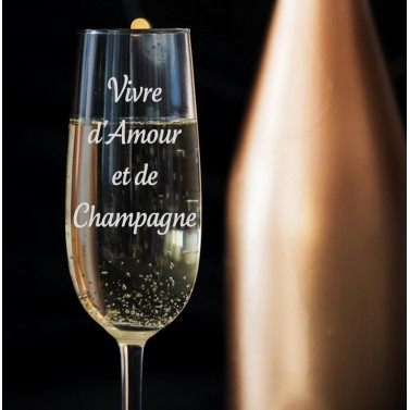 Verre à champagne gravé