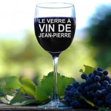 Verre à Vin avec prénom personnalisé