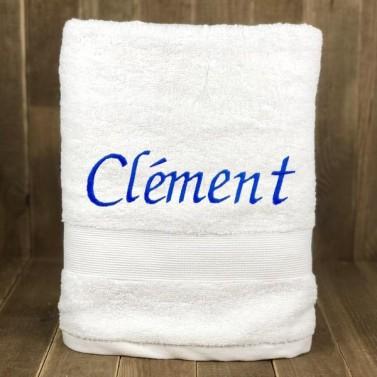 Serviette de bain Blanche personnalisée