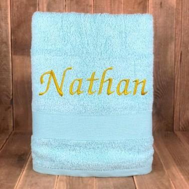 Serviette de bain Bleu Ciel personnalisée