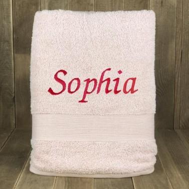 Serviette de bain Rose personnalisée