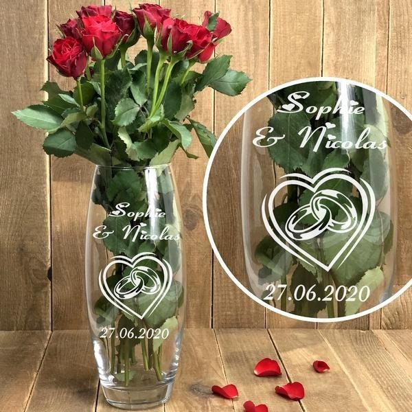Vase Mariage personnalisé