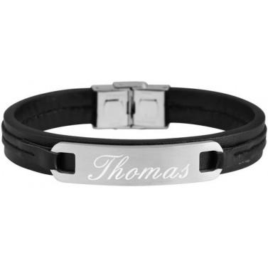Bracelet cuir et acier personnalisé